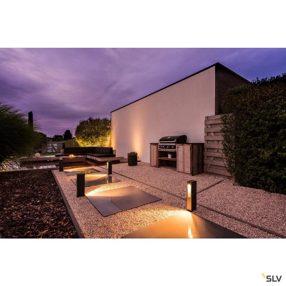 SLOTBOX 40, Outdoor Standleuchte, LED, 3000K, IP44, eckig, anthrazit, L/B/H 12/7/40, 4W