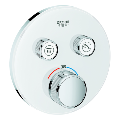 GROHE THM Grohtherm SmartControl 29151 rund FMS 2 Absperrventile moon white
