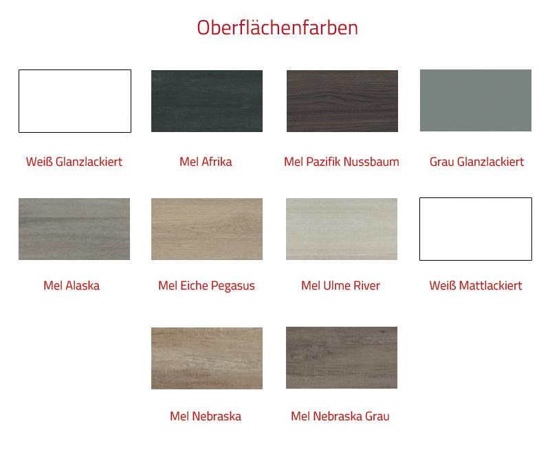 Thielsch Badmöbel Malaga Set 70 cm Mel Nebraska Grau inkl. Wandschrank