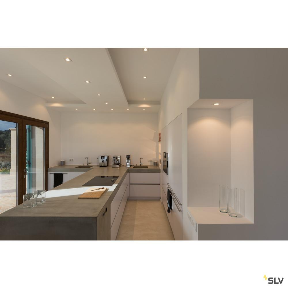 NEW TRIA 68 square, Indoor Deckeneinbauleuchte, QPAR51, schwarz, 50W