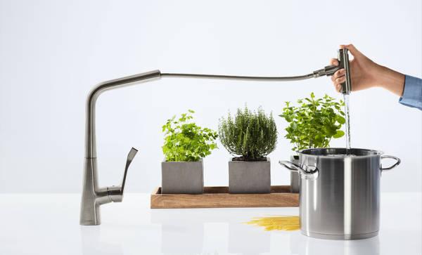 Hansgrohe Metris Select Einhebel Küchenmischer mit Ausziehauslauf