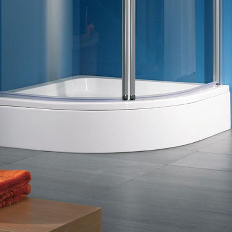 HSK Duschwannenschürze für Viertelkreis-Duschwanne 80x80 Weiß