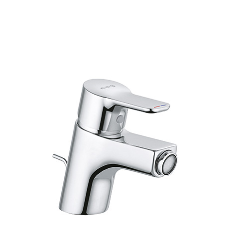 KLUDI PURE & EASY Bidet-EHM Wasserspararmatur m. Metallablaufg. chro