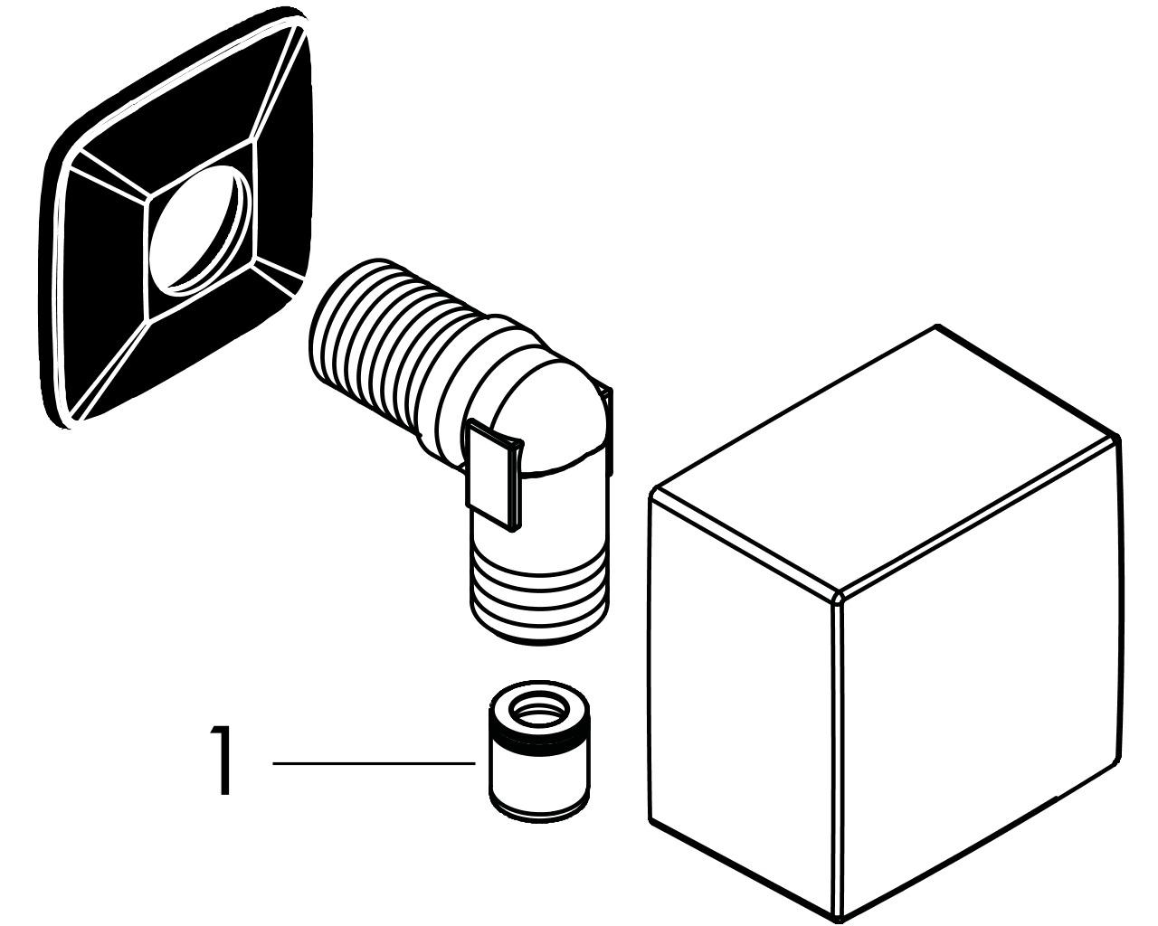 HG Schlauchanschluss DN15 Fixfit Square mit Rückflussverhinderer BBC