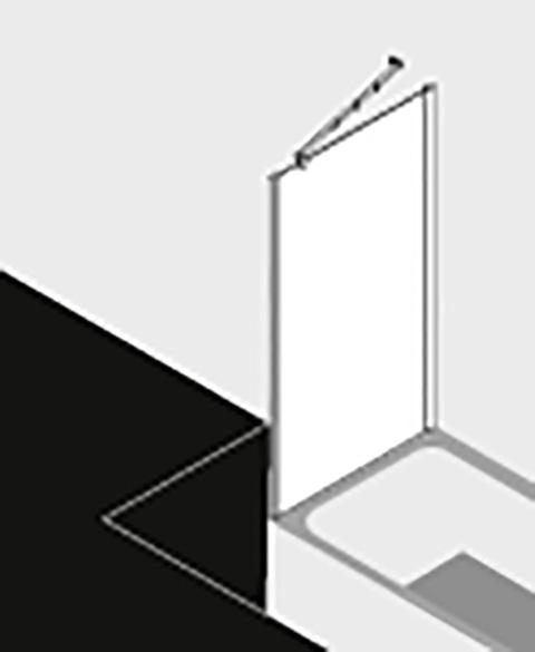 Kermi Seitenwand Filia XP UVD 1000x 1600 BV: 975-1000 SIHG ESG klar