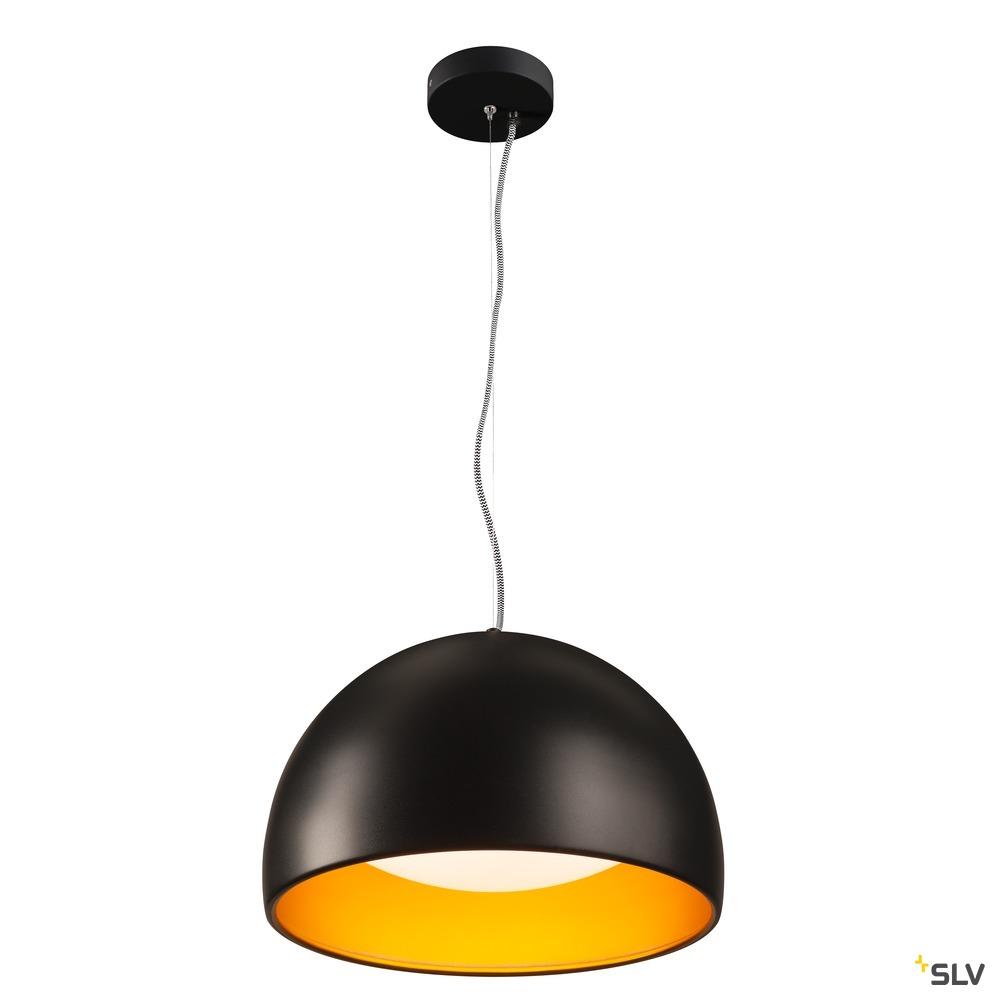 BELA 40, Pendelleuchte, LED, 3000K, schwarz/gold, 1350lm