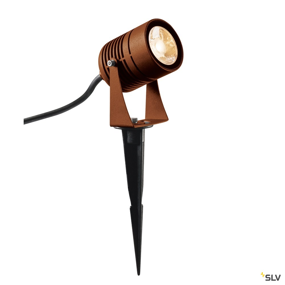 LED SPIKE, LED Outdoor Erdspießleuchte, rost farbend, IP55, 3000K, 40°