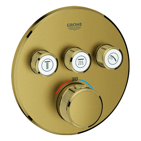 GROHE Thermostat Grohtherm SmartControl 29121 FMS rund 3 ASV cool sunrise geb.