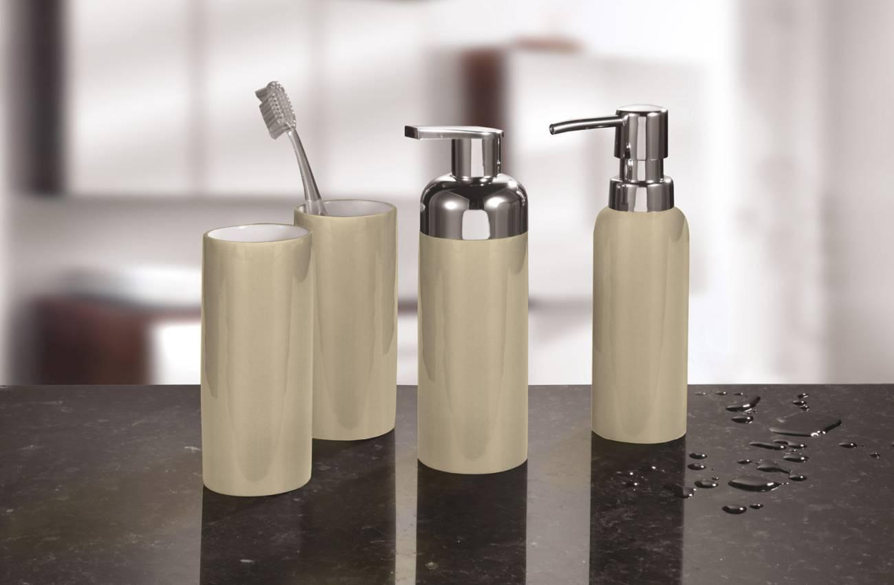 Accessoires Pur Shiny Steinzeug Schwarz WC-Bürstenhalter