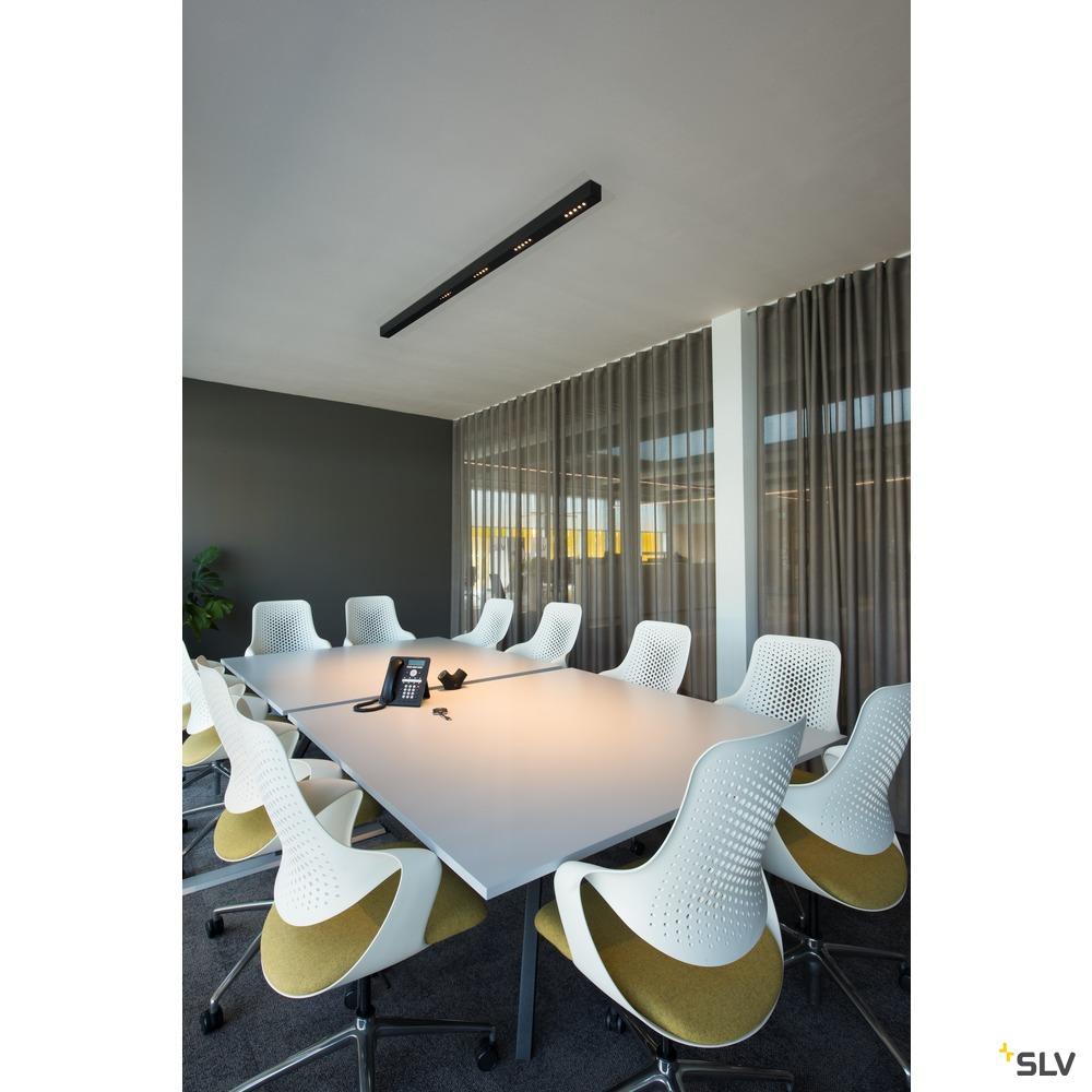 Q-LINE CL, LED Indoor Deckenaufbauleuchte, 2m, BAP, silber, 4000K weiß