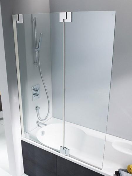 HSK K2P Badewannenaufsatz 2 bewegliche Elemente Links Klar Hell verspiegelt ohne Beschichtung exkl. Aufmaßservice