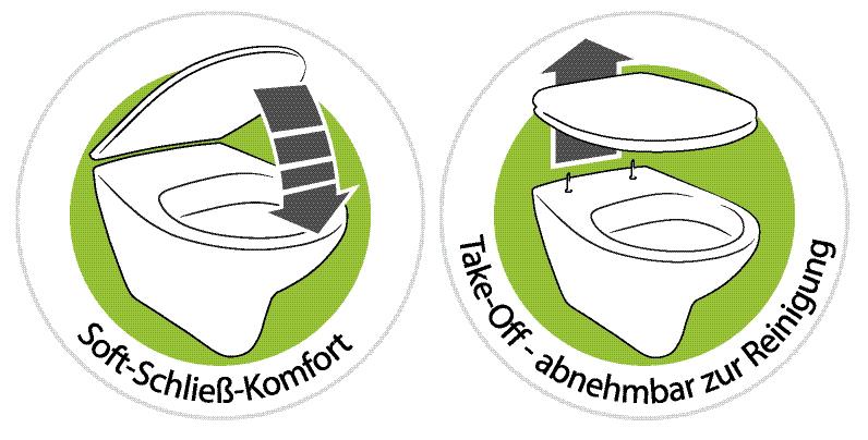 Thielsch Badkeramik Komfort Wand-WC inkl. WC-Sitz