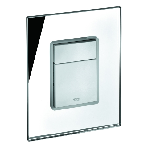 GROHE Abdeckplatte 42369 mit Drucktaste spiegelglas