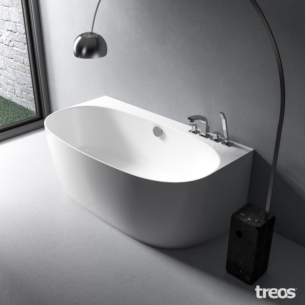 Treos Mineralguss Vorwand Badewanne - 1580x860x580 mm