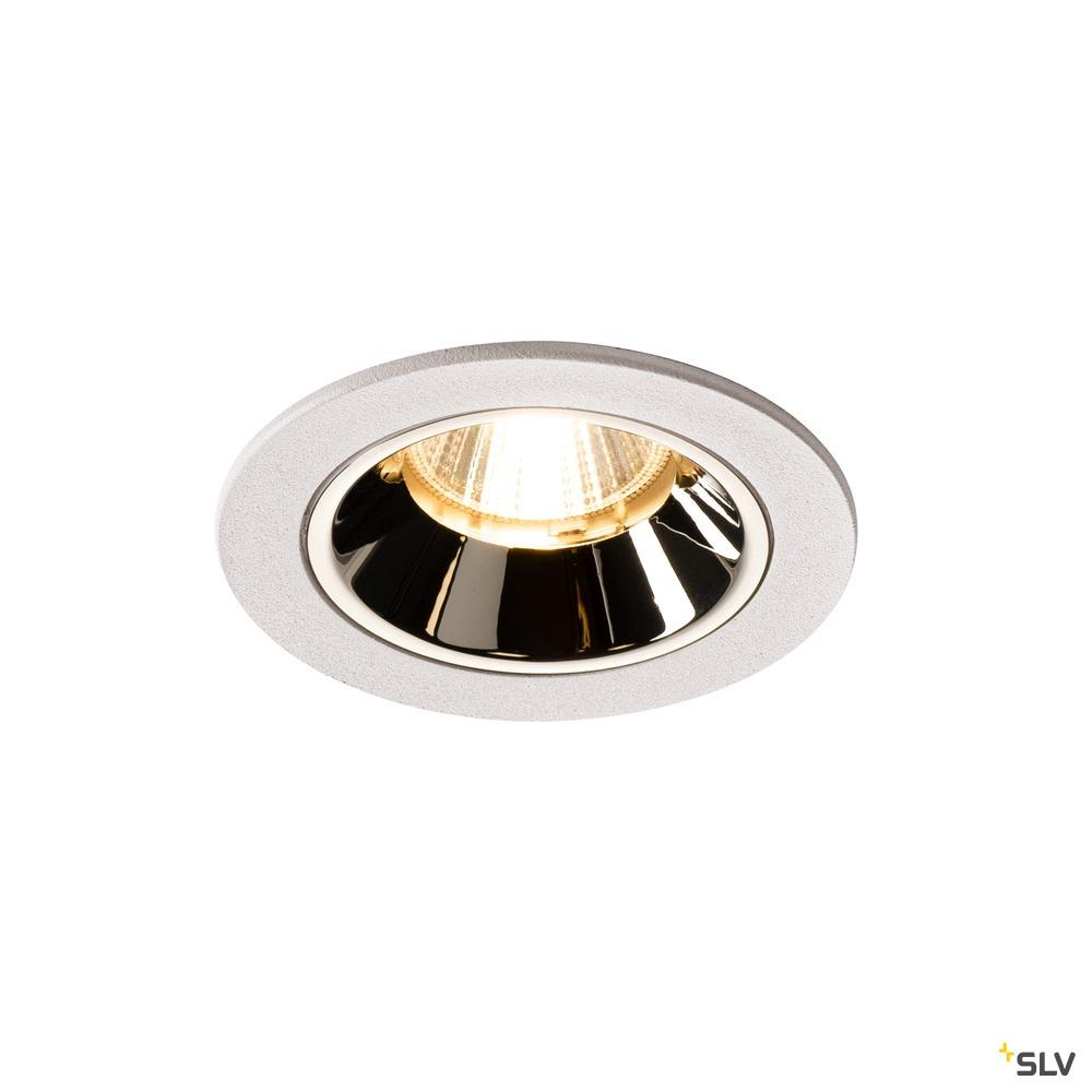 NUMINOS® DL S, Indoor LED Deckeneinbauleuchte weiß/chrom 3000K 55° inkl. Blattfedern