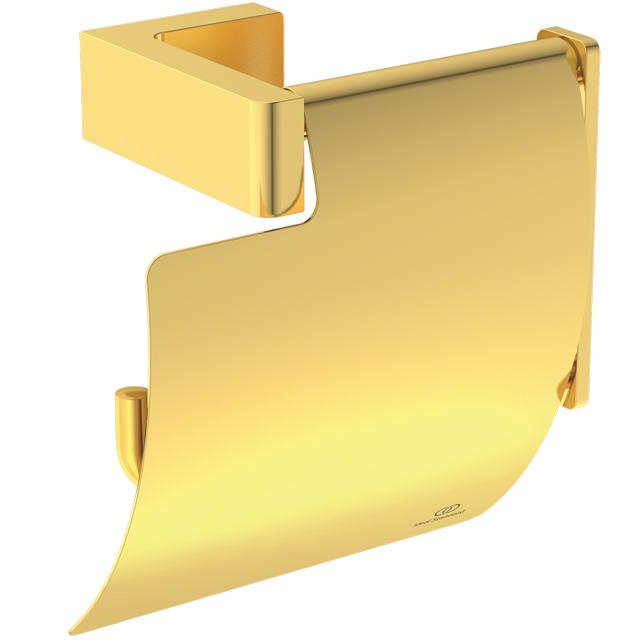 IS Papierrollenhalter Conca Cube eckig Brushed Gold