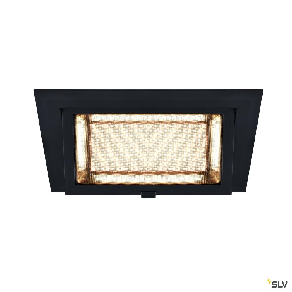 ALAMEA, Deckeneinbauleuchte, LED, 3000K, schwarz, 29,4W