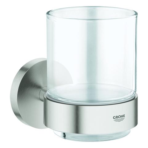 GROHE Glas Essentials 40447_1 mit Halter