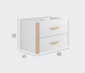 Thielsch Badmöbel Versus 80 inkl. Waschtisch Arcilla Mattlackiert