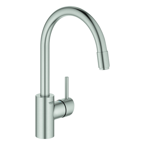 GROHE EH-SPT-Batterie Concetto 32663_3 h. Asl. azb. L-Br. GROHE Zero supersteel