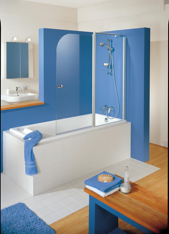 HSK Exklusiv Badewannenaufsatz, 2-teilig Links Alu Silber-Matt Grau ohne Beschichtung exkl. Aufmaßservice