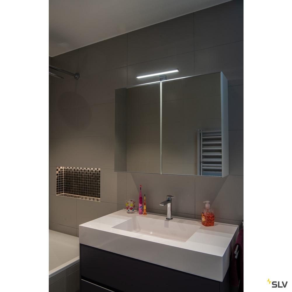 DORISA, Spiegelleuchte, LED, 4000K, kurz, chrom, IP44