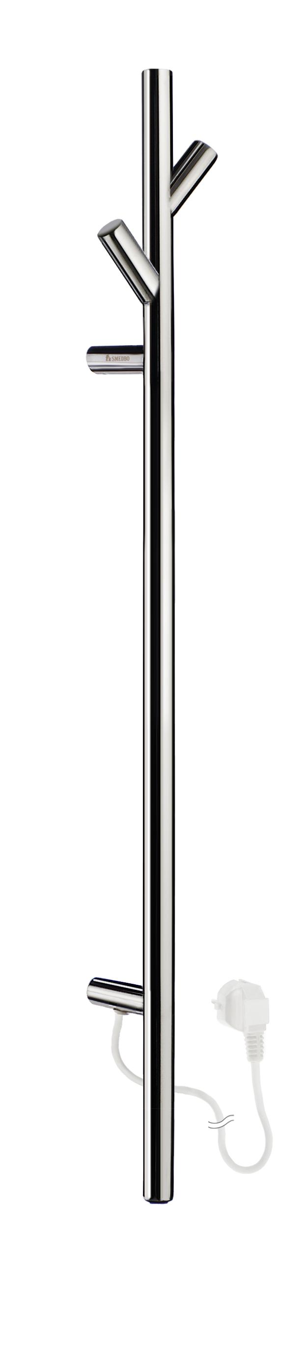 SMEDBO DRY Bad Elektrischer Handtuchwärmer, Baum - kurze Version Edelstahl poliert