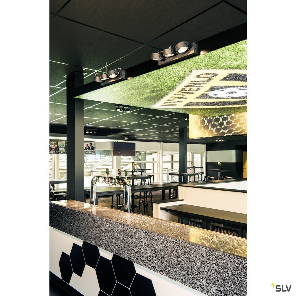 KALU, Wand- und Deckenleuchte,  dreiflammig, LED, 3000K, schwarz, 60°