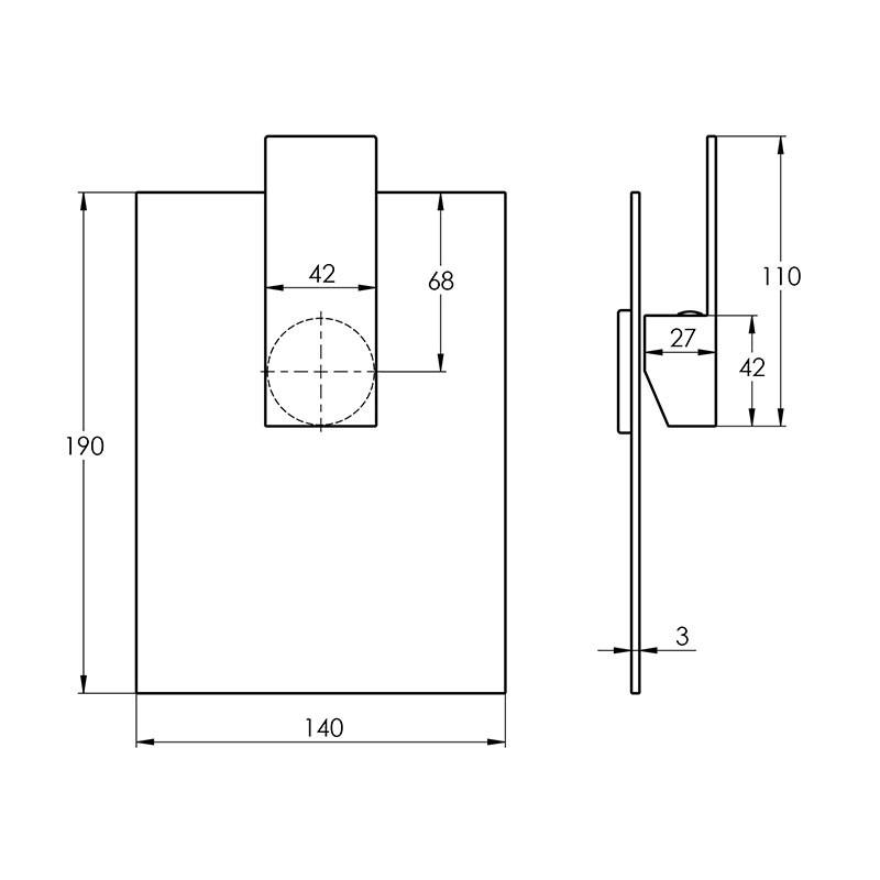 Treos Serie 176 Brause - Einhebelmischbatterie inklusive Grundkörper