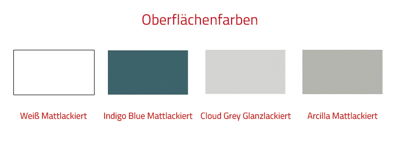 Thielsch Badmöbel Versus Set 80 cm Indigo Blue Mattlackiert exkl. Wandschrank