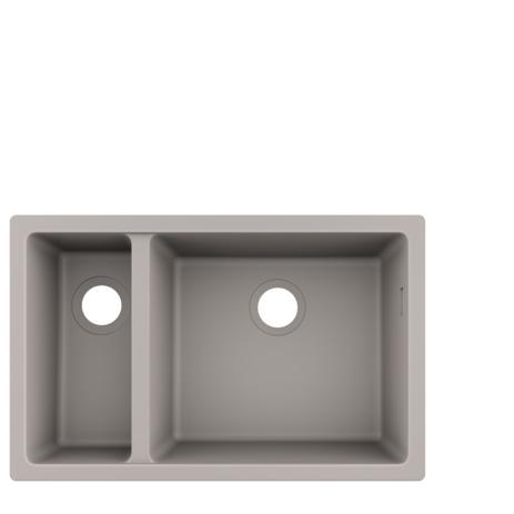 HG Unterbauspüle 180x450 S510-U635 betongrau