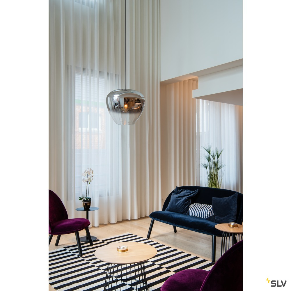 PANTILO CONVEX 40, Indoor Pendelleuchte E27 chrom