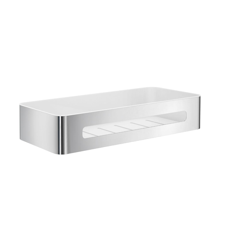 SMEDBO SIDELINE Duschkorb mit Einsatz Edelstahl poliert/Weiß ABS-Kunststoff