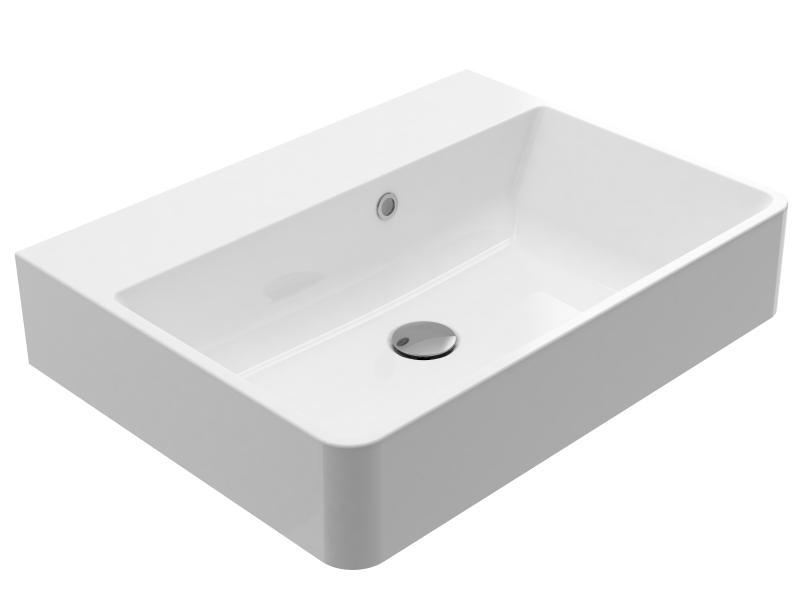 Treos Mineralguss Waschbecken ohne Hahnloch 600x450 mm