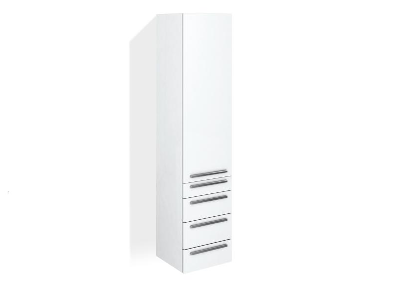 Treos Seitenschrank mit Türanschlag rechts, weiss, 400x360x1760 mm