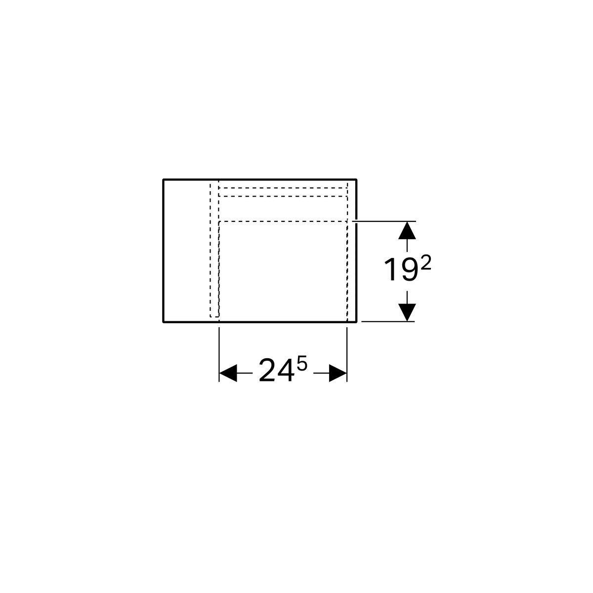 Geberit iCon Seitenelement mit Staubox