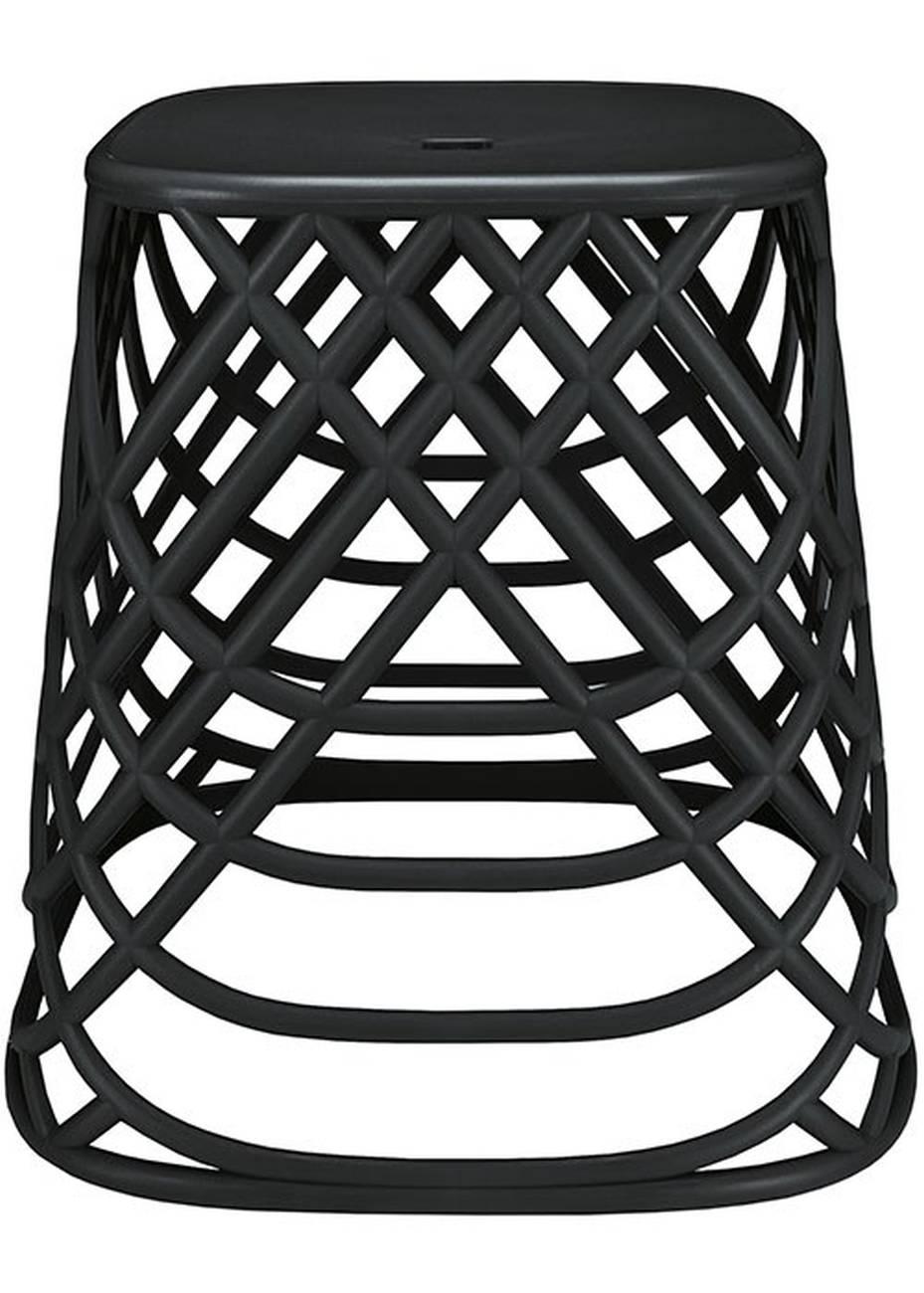 Hocker Scandic Chair Polypropylen Schwarz 43,5x43x43,5cm BxHxT