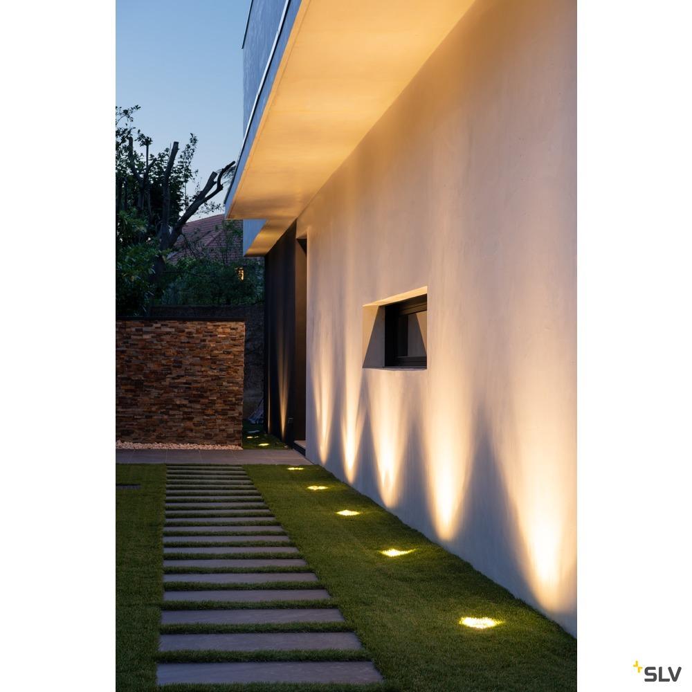 ROCCI 125, Outdoor Bodeneinbauleuchte, LED, 3000K, IP67, eckig, edelstahl 316, max. 6W