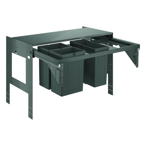 GROHE Mülltrennsystem GROHE Blue 40983 90cm drei fach 2x8 Liter - 1x11 L grau