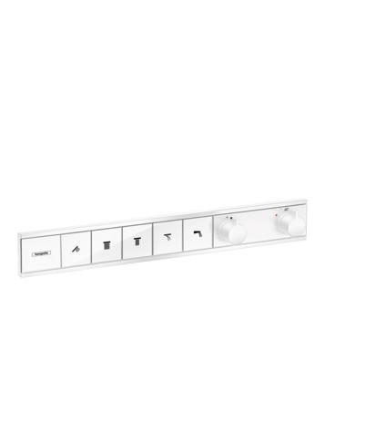 HG Thermostat Unterputz RainSelect Fertigset 5 Verbraucher mattweiss