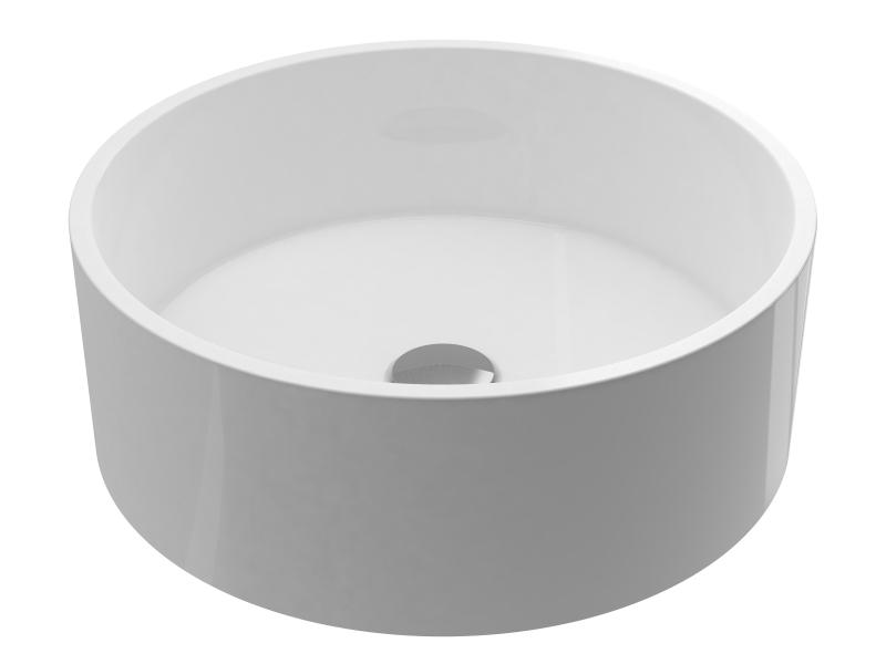Treos Mineralguss Aufsatzwaschbecken, rund