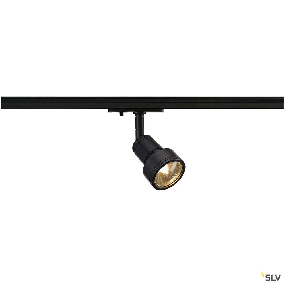 PURI, Spot für Hochvolt-Stromschiene 1Phasen, QPAR51, schwarz matt, max. 50W, inkl. 1Phasen-Adapter