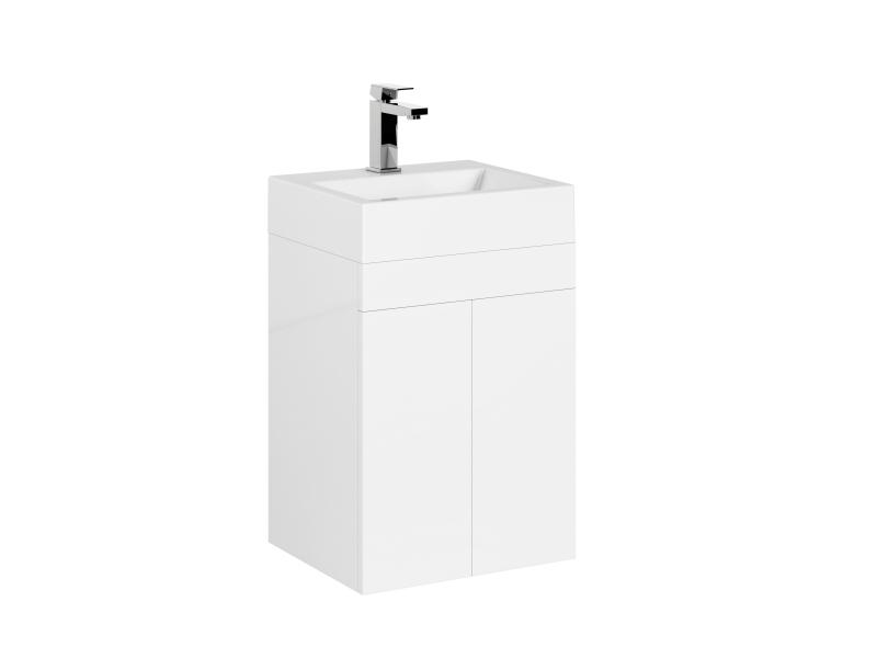 Treos Badmöbel mit Hahnloch weiss 420x360x650 mm