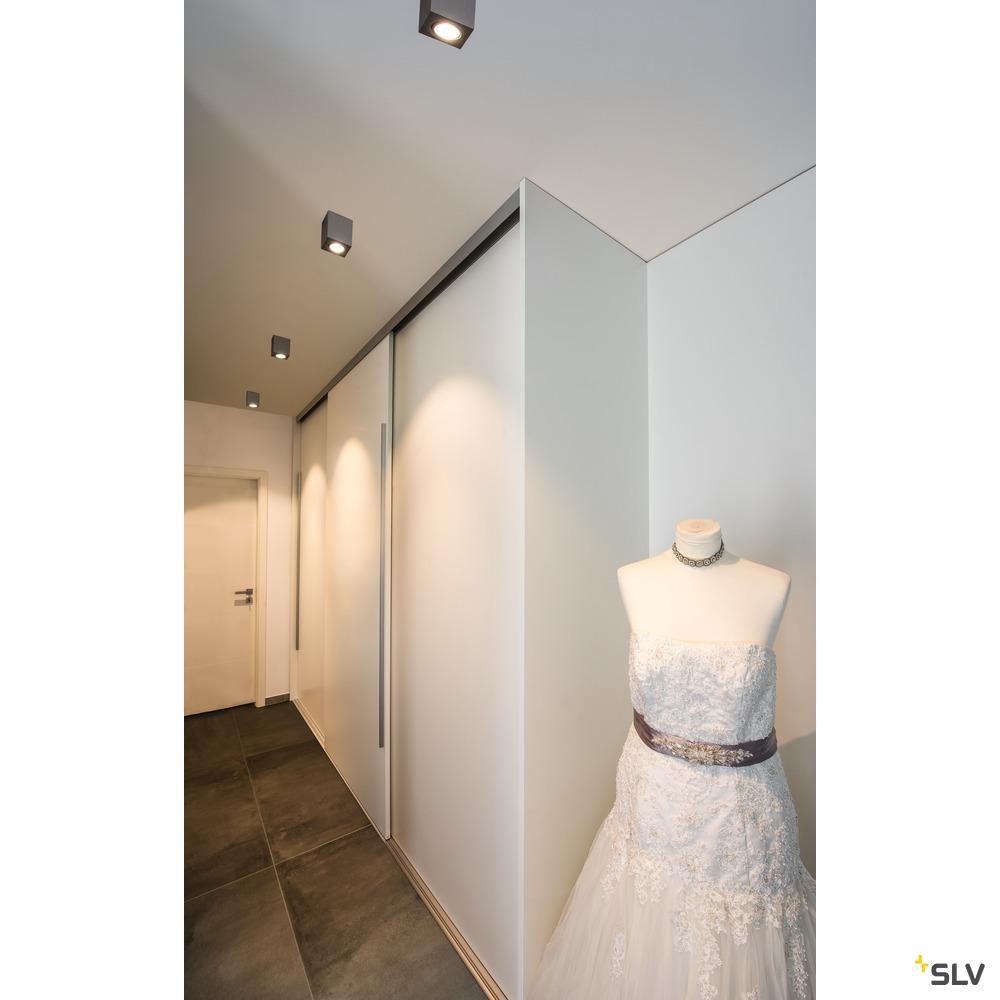 TRILEDO Single, Indoor Deckenaufbauleuchte, QPAR51, alu br., max 10W
