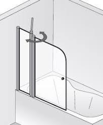 HSK Exklusiv Badewannenaufsatz mit Festelement - 1000 mm Alu Silber-Matt Links Klar Hell mit Beschichtung inkl. Aufmaßservice