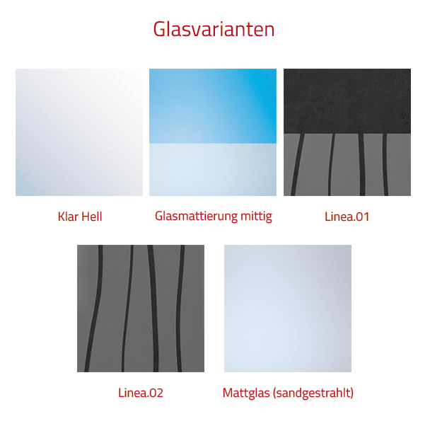HSK Favorit Nova Badewannenaufsatz, 2-teilig - 1000 mm Rechts Weiß inkl. Stangengriff Glasmattierung mittig mit Beschichtung exkl. Aufmaßservice