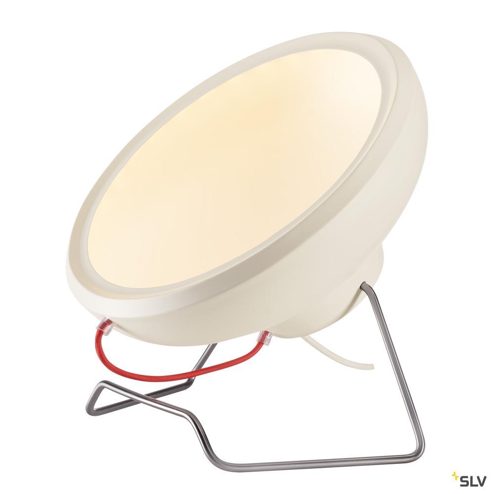 I-RING FLOOR, Standleuchte, LED, 3000K, rund, weiß, Textilkabel rot, 14W
