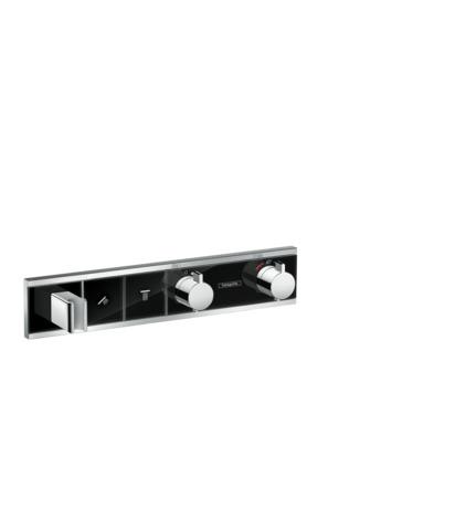 HG Thermostat Unterputz RainSelect Fertigset 2 Verbraucher schwarz/chrom