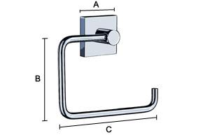 SMEDBO HOUSE Toilettenpapierhalter Mattverchromt
