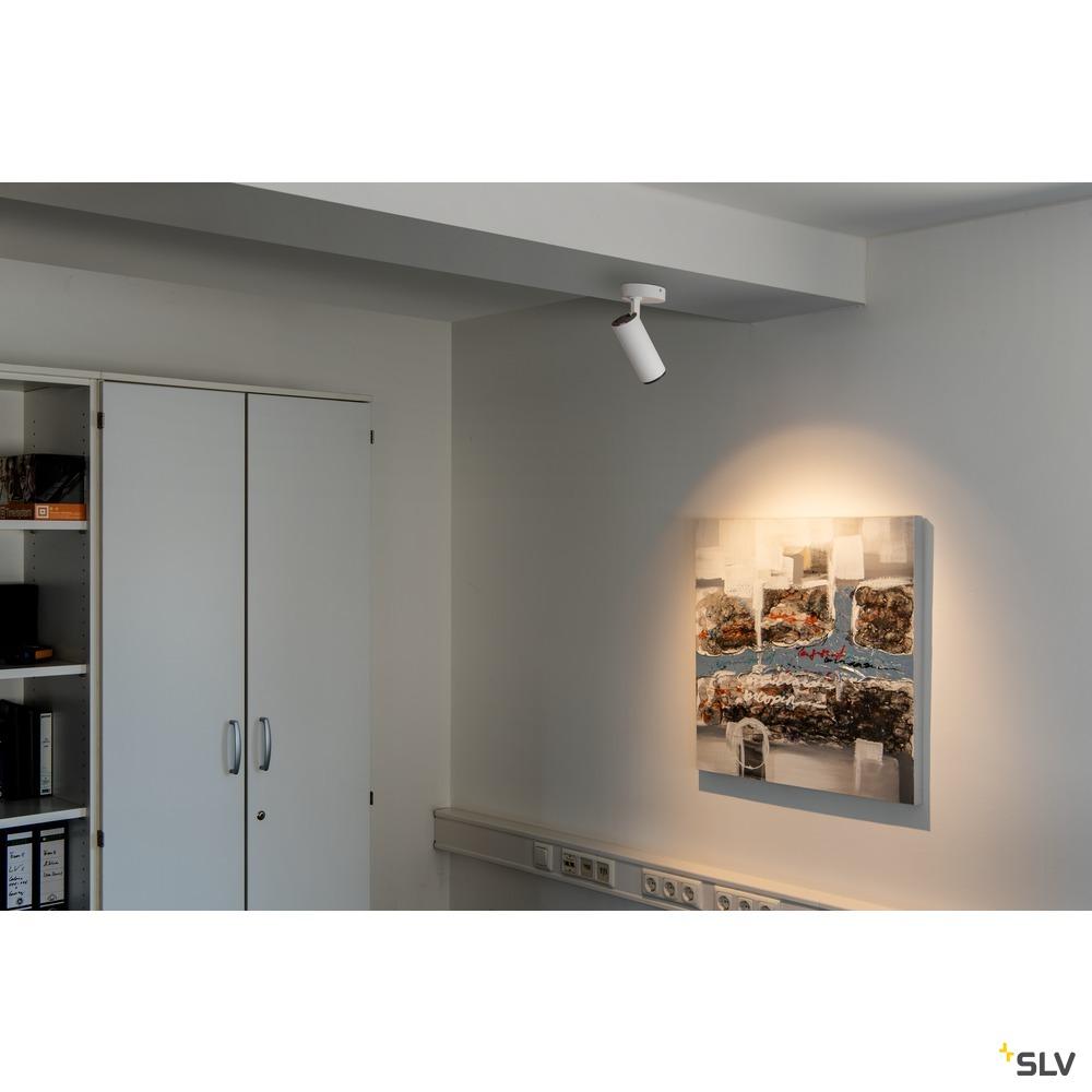 NUMINOS® SPOT PHASE M, Indoor LED Deckenaufbauleuchte weiß/schwarz 4000K 60° weiß